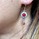 Thumbnail: Art Deco Silver and Paste Flowerheads with dangle drop Ruby and Diamond