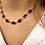 Thumbnail: 19th Century Flat Garnet Riviere Necklace set in 9ct Gold. 16inches: 40cm