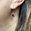 Thumbnail: Vintage Silver & Sparkling Purple & Lilac Paste flower drop earrings