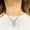 Thumbnail: Original Art Deco Silver & Sparkling Paste Necklace.