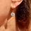 Thumbnail: Art Deco Sparkling Paste 12mm flowerhead earrings on 9ct Gold leaverback hooks