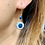 Thumbnail: Art Deco Sparkling Paste Flowerheads with natural blue Sapphire Solitaire