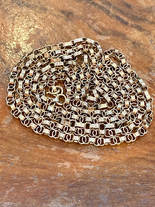 Victorian Fancy Double link chain 9ct Gold marked. 30inches:78cm long
