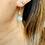 Thumbnail: Art Deco Sparkling Paste & Silver Flowerhead earrings