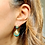 Thumbnail: Victorian c1860 Etruscan Revival Gold & Turquoise Earrings