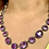 Thumbnail: Edwardian era Amethyst Riviera necklace set in Silver 19inches:49cm long
