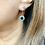 Thumbnail: Art Deco (c1930) Silver & Sparkling Paste Earrings