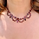 Thumbnail: Georgian flat cut Garnet swag necklace 9ct Gold set 43cm:16.5inches long