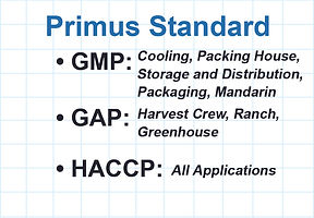 PrimusGFS Certification