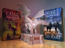 Books with Castle and Statue D10