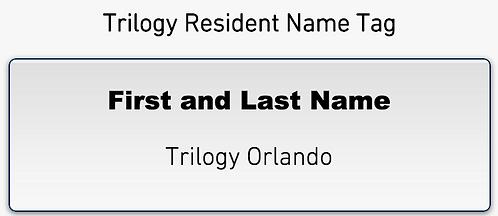 Trilogy Member Name Tag