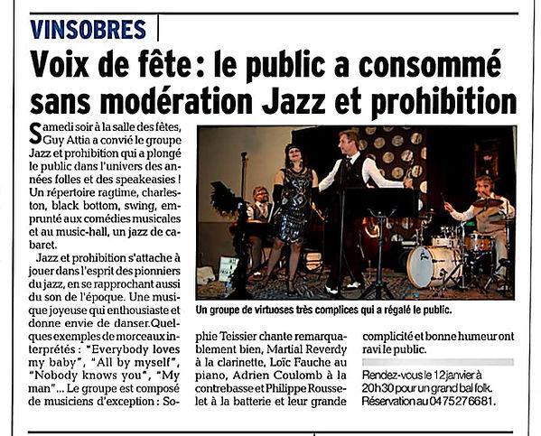 2018-12-08 Jazz & Prohibition - Vinsobre