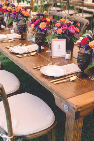 Vineyard Inspired Wedding Décor