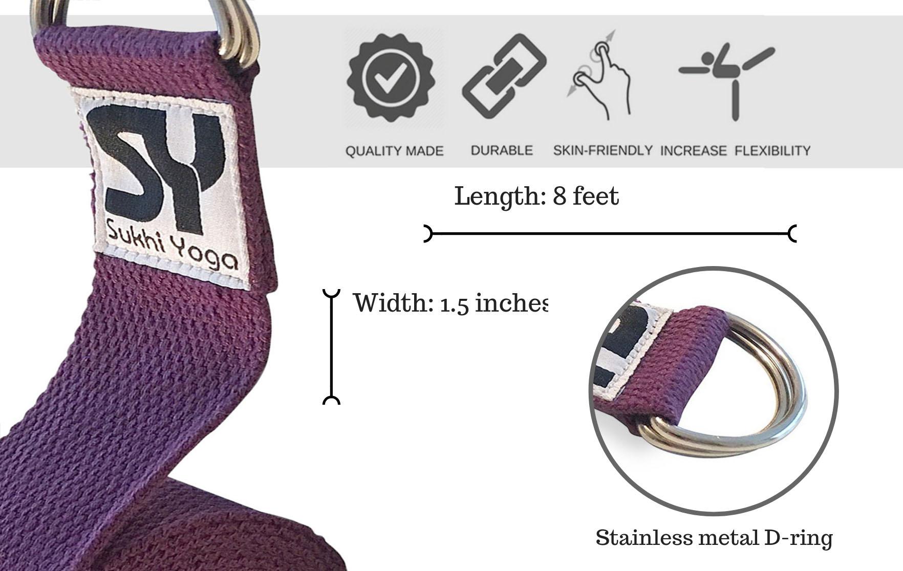 Purple Yoga Strap Sukhi Yoga