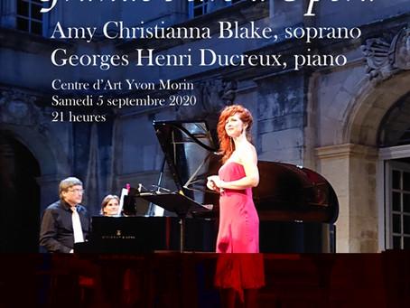 """2 interprètes pour notre soirée  """"Grand Airs d'Opéras"""""""