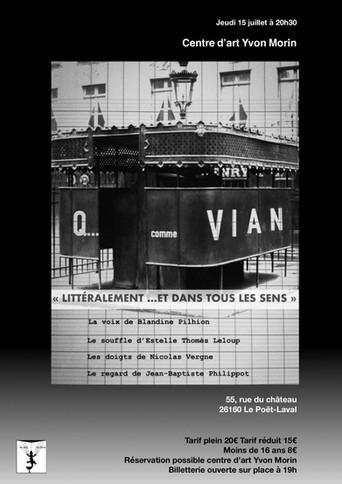 Q comme Vian -Poët-Laval-centre d'art .