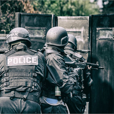 """""""LE 5 EME CAVALIER"""", co-réalisé par JD Schneider, Julien Dumont et Cédric Chabloz. Screenshot Bouclier D'intervention,Police 4"""