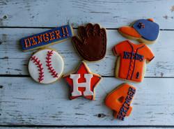 Houston Astros themed cookies