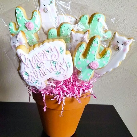 Llama Cookie Bouqet