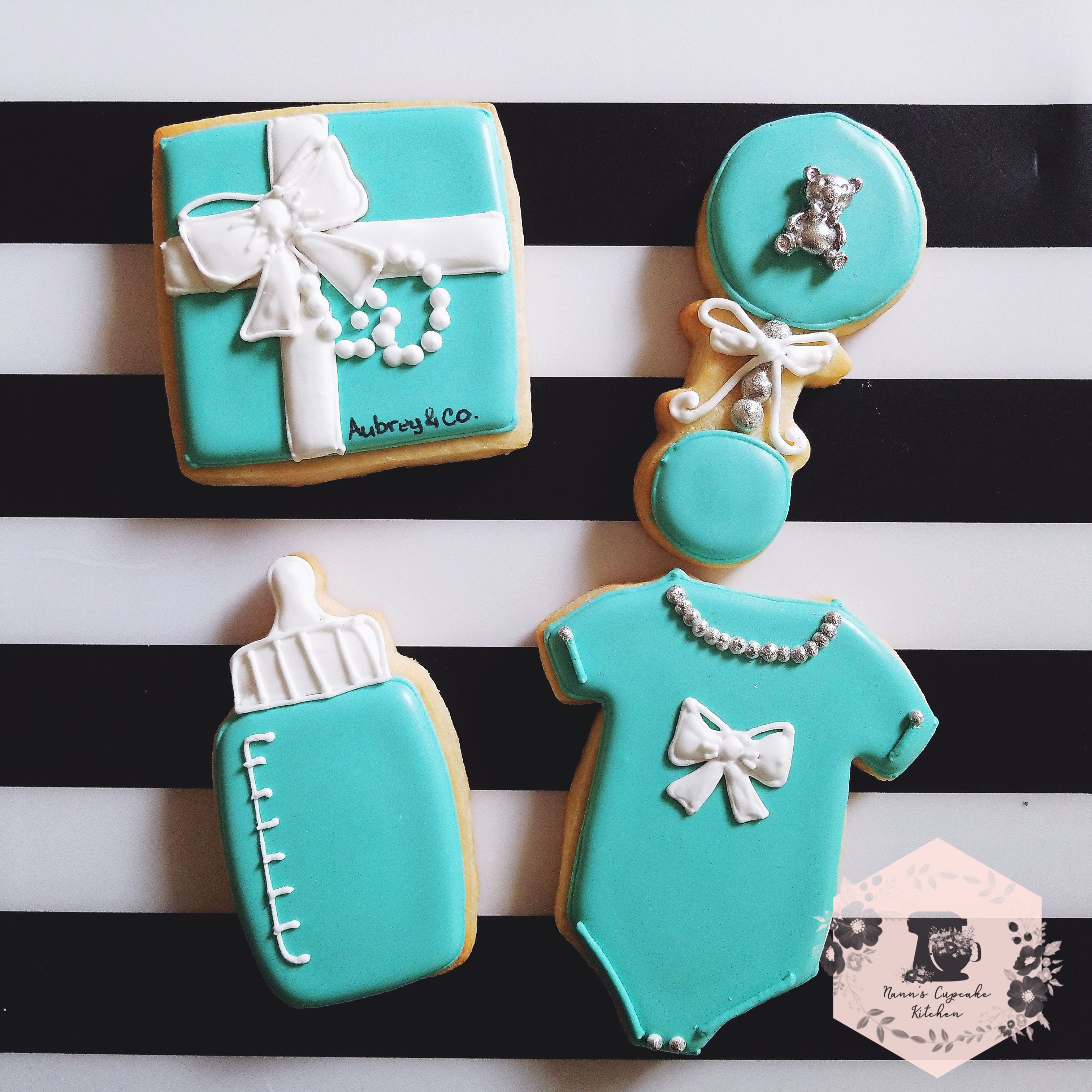 Tiffany & Co Baby Shower Cookies