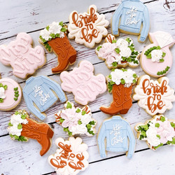 Floral Cowgirl Bridal shower Cookies