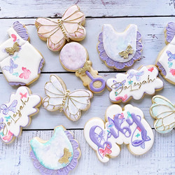 water color butterfly cookies