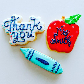 Teacher Appriciation Cookies