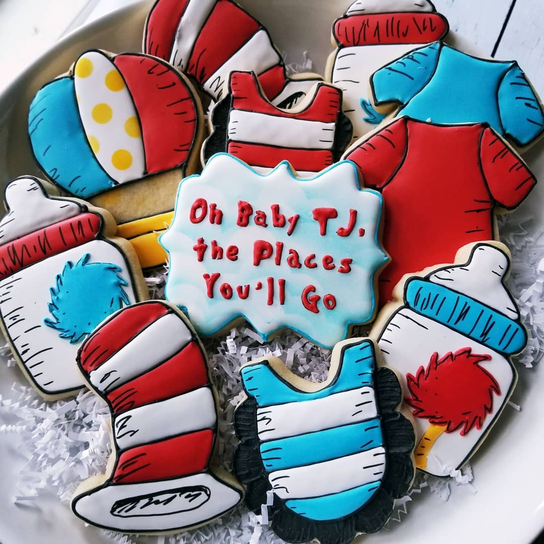 Dr Seuss Baby Shower Cookies