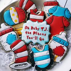 Dr Seuss Baby Shower Cookies