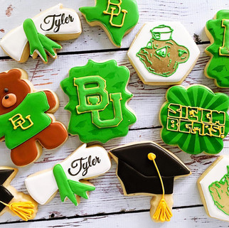 Baylor University Graduation Cookies
