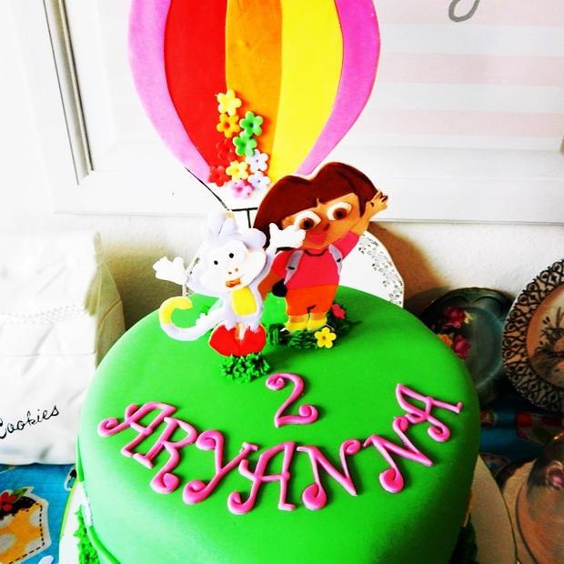 Instagram - Dora & Boots Birthday Cake #