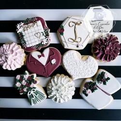 Wedding cookies with logo