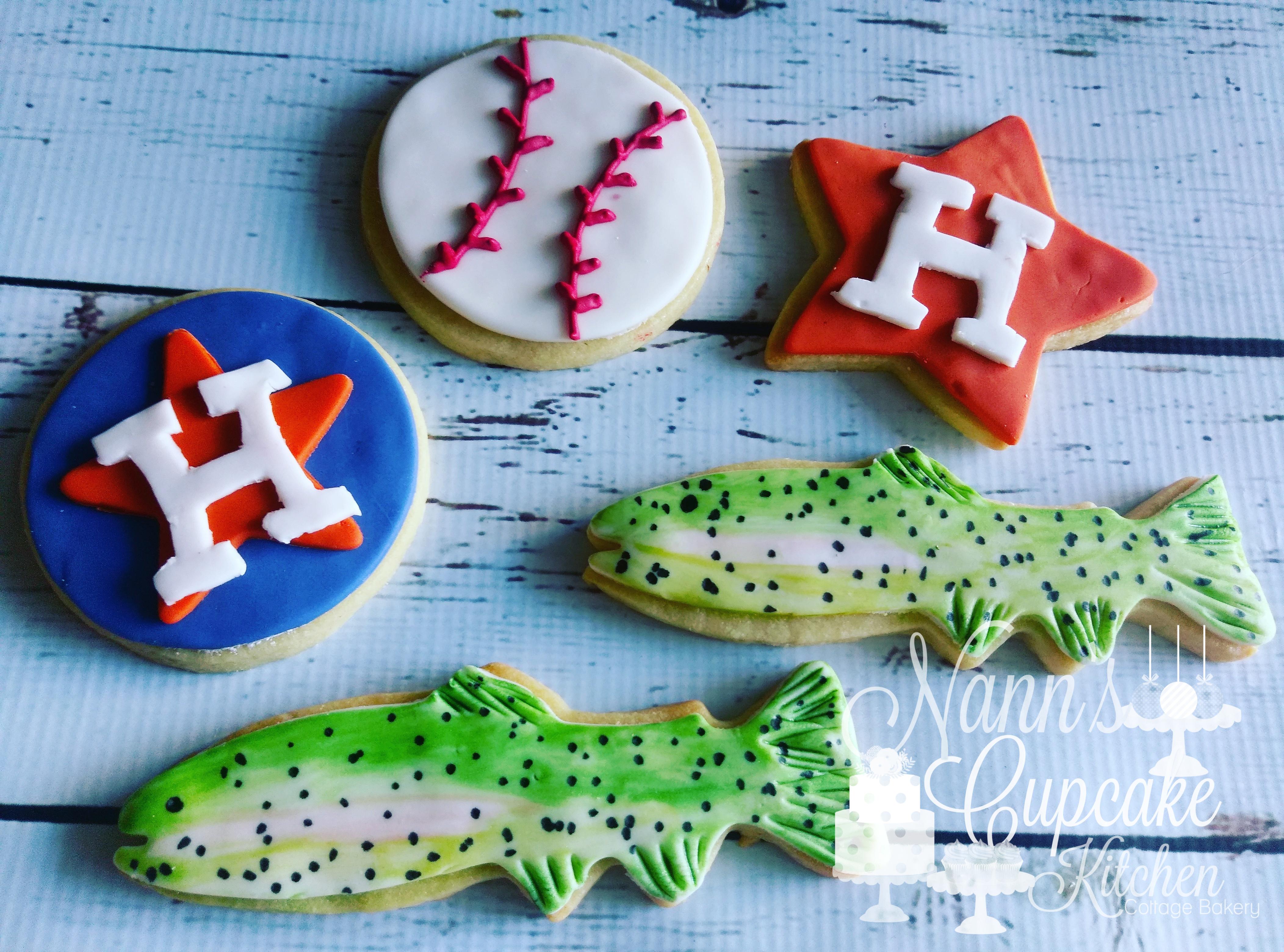 Baseball and Fishing Cookies