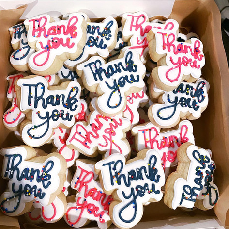 Mini thank you cookies