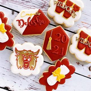 Cy Woods Graduation Cookies