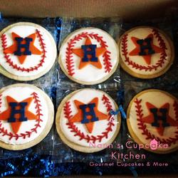Astros Baseball Cookies