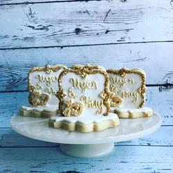 3D Wedding cookies