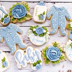 Baby Boy Floral Cookies