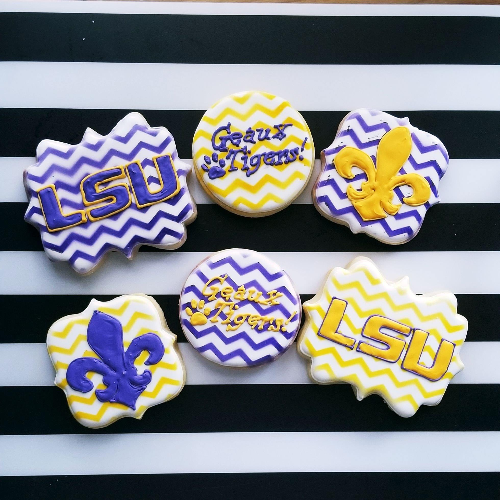 LSU Themed Cookies