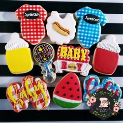 BabyQ themed cookies