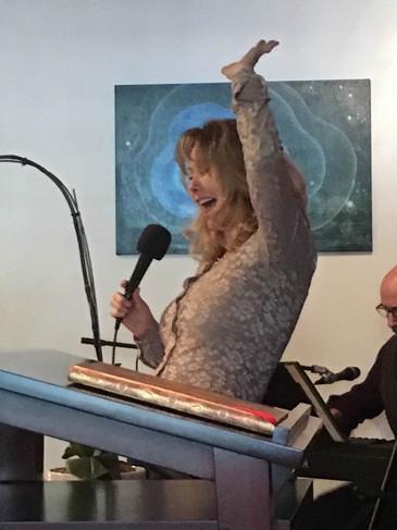 Faith performing at Inspire Spiritual Community
