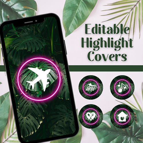 Influencer Jungle Style Highlight Cover