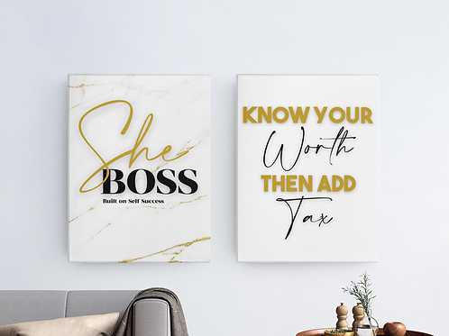 She Boss Wall Art Collection