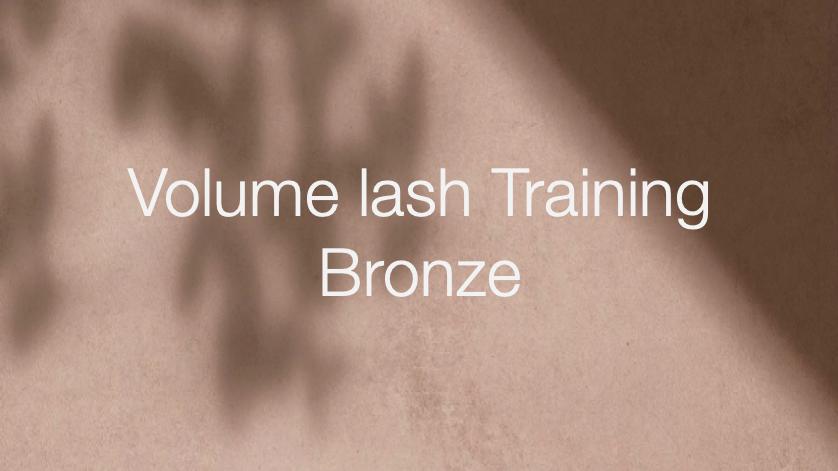 Bronze   Volume lash Training