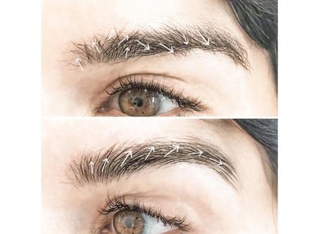 Eyebrow lamination | Eyebrow hair direction change