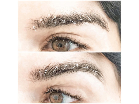 Eyebrow lamination | Eyebrow hair direction change