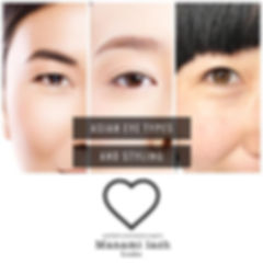 Different Asian eye types and styling ..