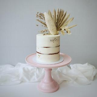 boho Trockenblumen Torte