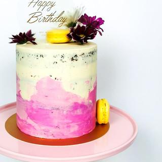 Geburtstagstorte rosa Ombre