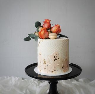 Torte mit Weizenmuster apricot